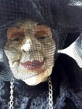 Old Witch Familiar Miss Havisham Haunted Vintage Doll Statue High EMF-Footsteps!