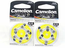 12 Camelion A10 / 10 / PR70 Hearing Aid Battery Zinc Air With Long Shelf Life