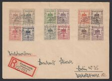 GERMANY, 1946. Cover Local Post Finsterwalde Mi 1-12, Berlin