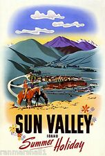 Sun Valley Idaho Summer United States America Travel Advertisement Poster