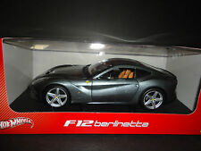 Hot Wheels Ferrari F12 Berlinetta Grey 1/18