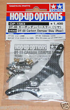 TAMIYA 54563 dt-03 CARBONIO DAMPER STAY (posteriore) (dt03/dt03t), Nuovo con imballo