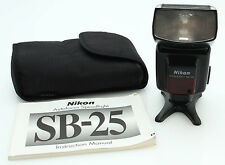 NIKON SB-25 SPEED LIGHT Shoe Mount Flash, Nylon Case, instr  #354298