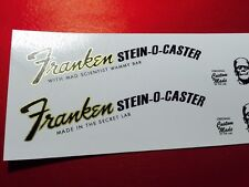 Franken Stein-O-Caster Metallic Gold Guitar Waterslide Headstock Decals TWO