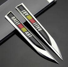 2pcs 3D Metall Auto Fenders Schriftzug Aufkleber Embleme für Dolch RALLI / ART
