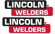 Lincoln Welders Decals Sticker 9-1/2 Inches New Vinyl Set of 2 Electric Racing