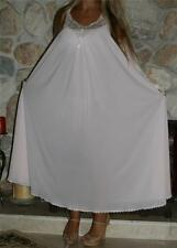 M LONG SWEEPING ICE PINK VINTAGE LINGERIE SLIP NIGHTGOWN NEGLIGEE
