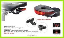 Luce fanale posteriore bici biciletta corsa  LED doppio attacco batterie incluse