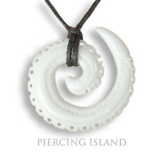 Tribal Amulett Anhänger Bone Spirale inkl. Band Knochen Maori Design PB103