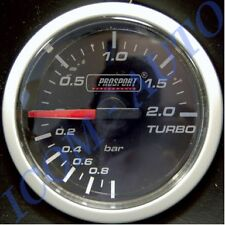 MANOMETRE PRESSION DE TURBO PRO-SPORT ECLAIRAGE LED 2 COULEURS 52MM