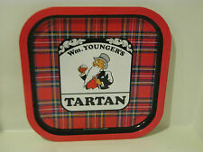 "WM. YOUNGER'S TARTAN TRAY -  12-3/4""  X 12-3/4""  MADE IN THE UNITED KINGDOM"