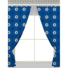 OFFICIAL CHELSEA FC REPEAT CREST CURTAIN PAIR BLIND 54 INCH DROP NEW XMAS GIFT