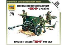 ZVEZDA 6253 1/72 Zis-3 Soviet Gun w/crew