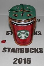 STARBUCKS 2016 RED PLAID CUP ORNAMENT ~  NEW ~ LAST ONE ~ FREE SHIPPING IN BOX ~