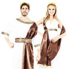 Roman Couple Adults Fancy Dress Grecian Greek Toga Mens Ladies Costume Outfits