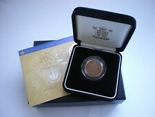 2002 ROYAL MINT UK GOLD PROOF SOVEREIGN - WITH BOX & COA