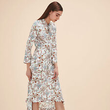 MAJE Rixie Long Printed Dress Size S Orig. $495 NWT