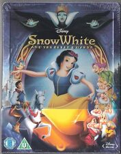 Disney SNOW WHITE AND THE SEVEN DWARFS, ZAVVI Blu-Ray Steelbook, Reg FREE, NEW