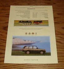 Original 1992 Range Rover & County Fact Specification Sales Sheet 92