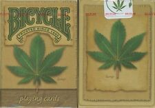 HEMP BICYCLE DECK PLAYING CARDS BY USPCC LEAF ECO GREEN MAGIC TRICKS COLLECTOR