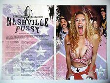 COUPURE DE PRESSE-CLIPPING :  NASHVILLE PUSSY [2pages] 09/2001 Blaine Cartwright
