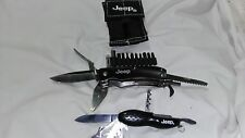 Jeep MultiTools Folding Knifes LED Flashlight, with case