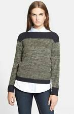 Marc Jacobs Fatigue Green Julie Wool Cashmere L/S Sweater Top $298 NWT L