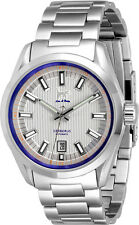 Lew and Huey Cerberus Automatic 100M Watch, White & Blue UK Seller