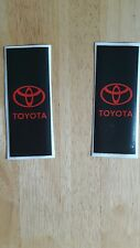 2 x Toyota Car Number Plate Self-adhesive Vinyl Stickers