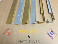 Kitchen Worktop Edging Strips Trims MATT GOLD & MATT SILVER *CHEAPEST ON EBAY*