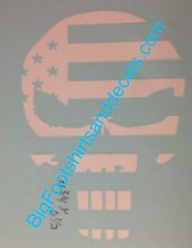 LARGE Punisher Stars N Stripes Sniper Navy Seal  Window Decal America