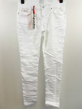 Superdry women's Super Skinny Folkoric Jeans White 32R rrp £54.99 box7489 N