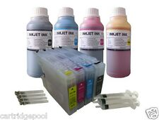 Refillable ink cartridge for Brother LC75 MFC-J435W MFC-J5910DW +4X10oz/s