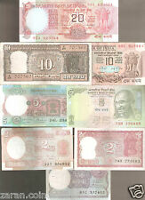 Vintage Republic India Bank notes of 1/2/5/5/10/10/20 in Good condition.