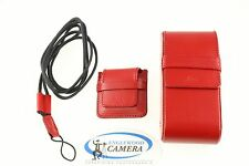Leica Red Jewel Box Camera Case for D-Lux w/Memory Card Holder/Neck Strap 18619