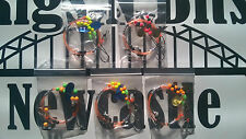 5 Sea fishing Rigs - 2 hook flappers - Flounder, Plaice, Dab, Turbot Sz 4 - 1/0