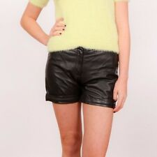 Vintage black leather hotpant shorts size 8 by Cache