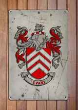 Lawrence Coat of Arms A4 Aged Retro 10x8 Metal Sign Aluminium Heraldry