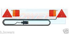 4FT FOOT WHITE CAR TRAILER/BIKE/CYCLE/RACK/CARRIER LIGHT LIGHTING BOARD 4M CABLE