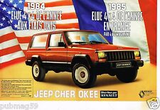 Publicité advertising 1986 (2 pages) Renault Jeep Cherokee 4X4