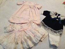 Heritage Mint Berenguer Old Life Size Big Baby Doll Clothes Lot Zapf  Outfits