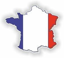 1x STICKER FRANCE SILHOUETTE BUMPER DECAL MAP FLAG