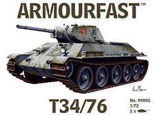 Russian T-34/76 (x2) 1/72 Tank plastic kit Hat Armourfast 99005 Free post