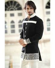 Mens New Black Wedding Designer Jacket Indo Western Party wear Sherwani -11021
