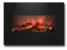 LED Elektrokamin Wandkamin Kamin Glaskamin Feuer Heizung Elektro Ofen 1800W  105