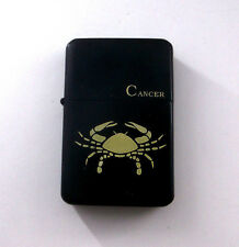 Cancer Horoscope Zodiac Astrological Sign Crab Wind Proof Oil Flip Lighter bb