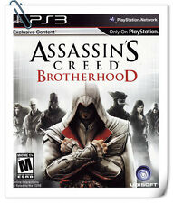PS3 Assassin's Creed: Brotherhood SONY PlayStation Games Action Ubisoft