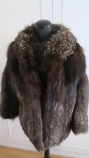 Real Platinum Arctic Silver Fox Fur women's Coat Jacket UK8-10EU34-36US6