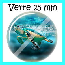 cabochon verre 25 mm tortue N°72