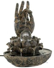 Hand Of Buddha Water Fountain Indoor Table Counter Desk Top NEW NIB